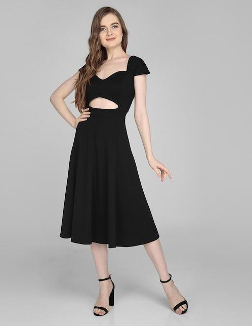 03ba9b3866 Vestido Amandine negro casual