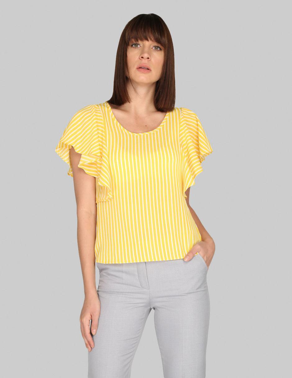 098912adb5 Blusa Atelier Petite amarilla a rayas